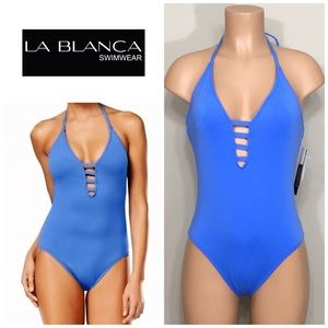 La Blanca caged strap swimsuit. NWT